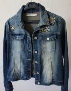 jeansowa kurtka cieniowana m...