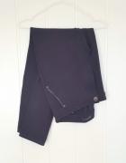 Eleganckie spodnie granatowe 42 XL bawełniane ciepłe...
