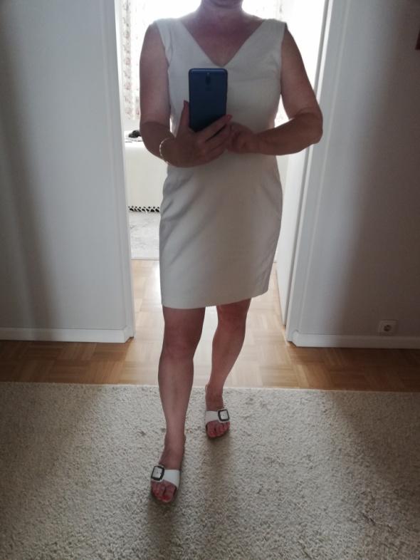 Suknie i sukienki Kremowa sukienka Zara ml