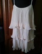 Suknia falbanki plisowane 38 H&M...
