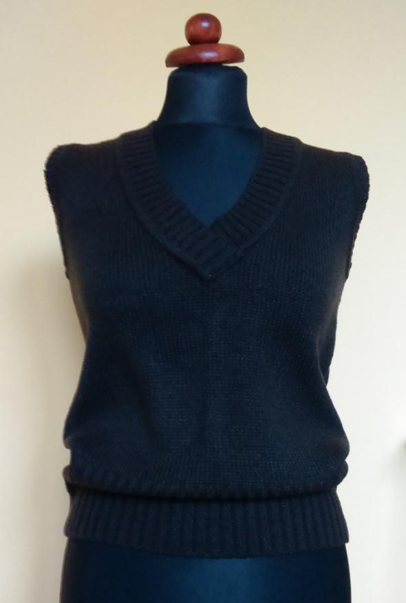 Sweterek bezrękawnik klasyczny brązowy M nowy z metką unisex