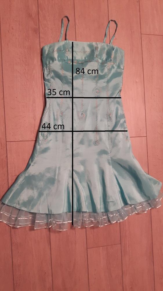 Sukienka turkusowa roz S 36