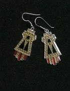 metalowe kolczyki aztec