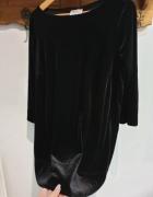 Dorothy Perkins czarna aksamitna bluzka r 42...
