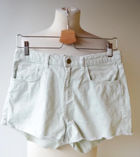 Spodenki Spodenki Miętowe Krótkie Jeans H&M L 40 Mięta
