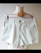 Spodenki Miętowe Krótkie Jeans H&M L 40 Mięta...