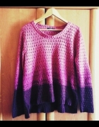 sweter ombre oversize