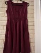 fioletowa letnia sukienka