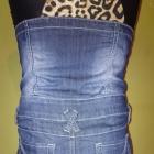 Spódnica jeansowa z wyższym stanem