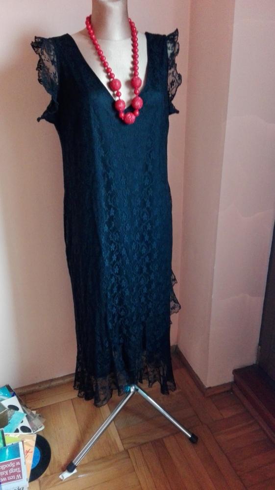 Suknie i sukienki Czarna z koronki