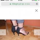 Szpilki atmosphere 38 złote czarne PRIMARK sandały sandałki gold black