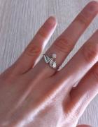 Autorski srebrny pietścionek z cyrkonią srebro syg...