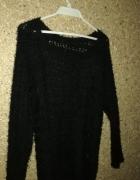 Amisu Czarny ażurowy sweterek 38...