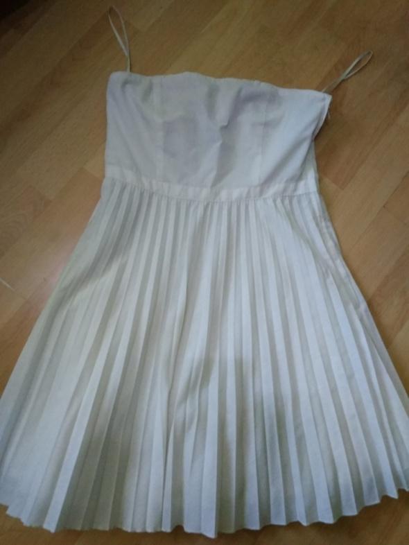 Sukienka na lato wesele biała h&m S