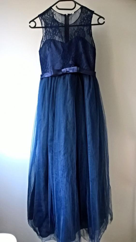 Suknie i sukienki Piękna sukienka balowa xxs xs wesele sylwester studniówka półmetek tiul koronka