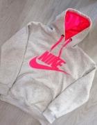Bluza kangurka Nike neon z kapturem marmurkowa M...