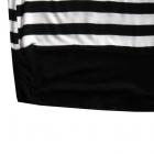 Biała Czarna Bluzka Tunika w Paski 40 L