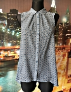 h&m bluzka asymetryczna modny wzór casual 36 S...