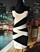 internacjonale sukienka wzory zip nude nowa 36 S