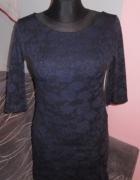 Elegancka sukienka damska granatowa w roz 38...