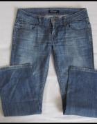 Spodnie jeansowe jeansy rozmiar 40 42 rozszerzane nogawki...