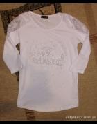 biała bluzka bluzeczka chanel S M