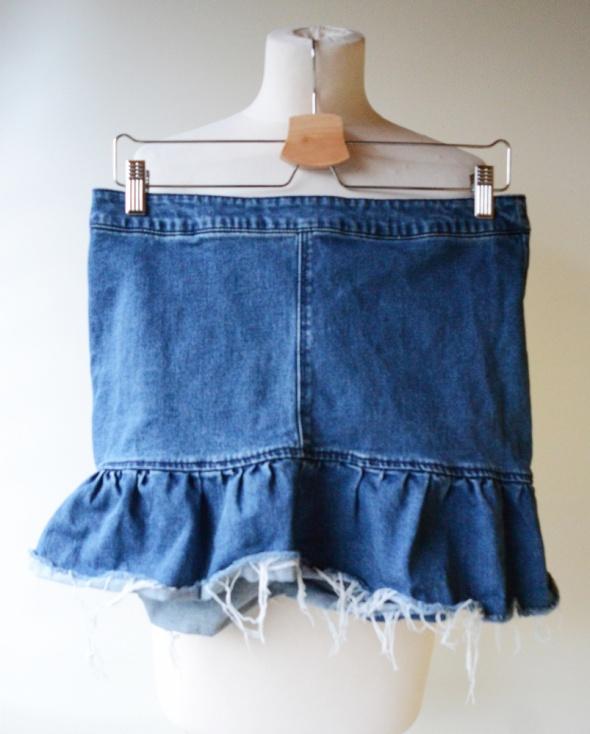 Spódnice Spódniczka Jeans Dzins H&M XL 42 Falbanka