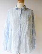 Koszula Paski Paseczki Niebieskie H&M XL 42 Oversize Elegancka...