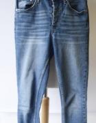 Spodnie Dzinsowe Jeansowe Gina Tricot L 40 Postrzępione Nogawki...