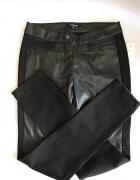 Spodnie czarne ekoskora skorzana 34 XS nowe...