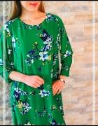 Sukienka zielona kwiaty Lauren Ralph Lauren