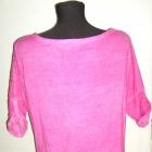 pikowana koszulka różowa oversize