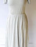 Sukienka Szara H&M M 38 Rozkloszowana Rozporek...
