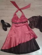 Satynowa suknia...