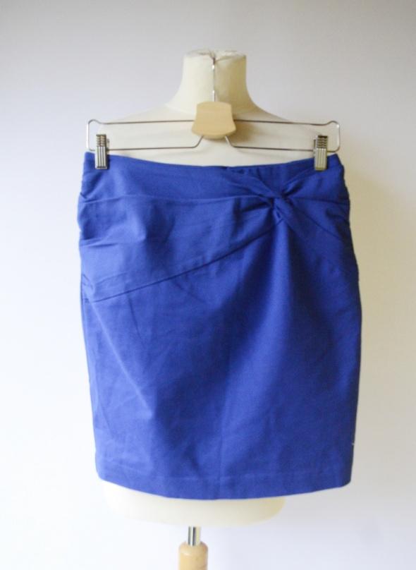 Spódnice Spódniczka Kobaltowa H&M M 38 Wizytowa Niebieska Elegancka