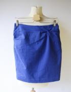 Spódniczka Kobaltowa H&M M 38 Wizytowa Niebieska Elegancka...