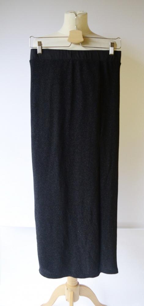 Spódnice Spódniczka Maxi Brokatowa Vila L 40 Czarna Długa
