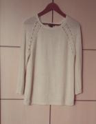 Ciepły kremowy sweterek H&M S 36