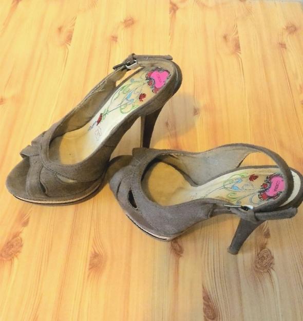 Szpilki open toe sandały z Hiszpanii 35 36 Kup3za2