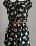 Czarna sukienka w kwiaty Atmosphere L XL XXL...
