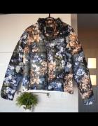 Amisu nowa kurtka puchowa kwiaty floral...