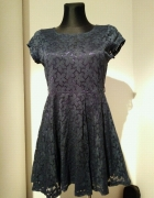 Granatowa sukienka koronka ML