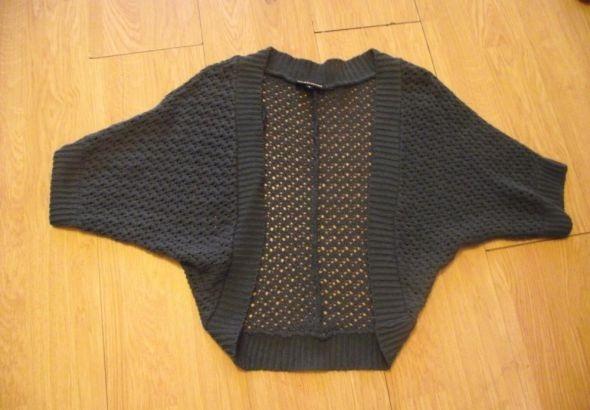 Swetry Granatowa narzutka ażurek rozmiar uniwersalny