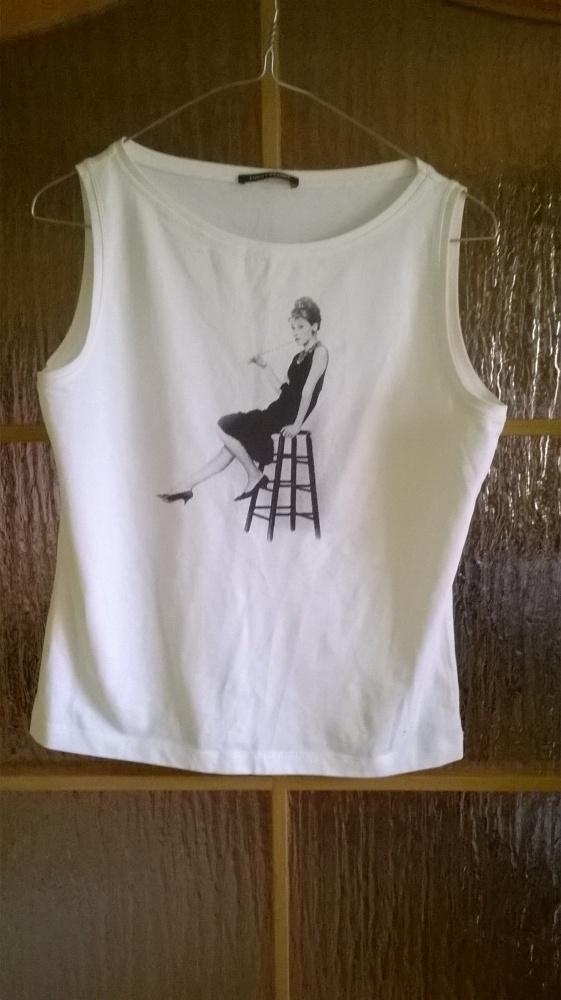 Bluzki Bluzka biała Audrey Hepburn M L