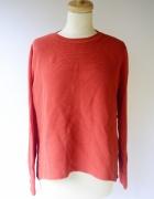 Sweter Czerwony KappAhl L 40 Oversize Czerwień Sweterek...
