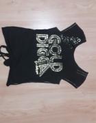Czarna bluzka z napisem