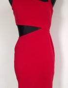 Petite Collection czerwona sukienka wycięcie S