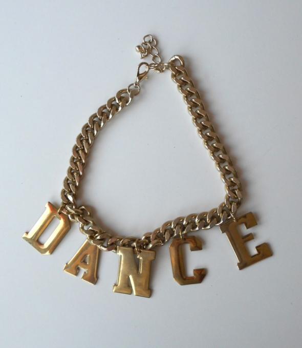 HM złoty łańcuch naszyjnik dance