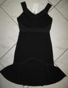 MODEL BEHAVIOUR czarna rozkloszowana sukienka lata 20 roz 34...