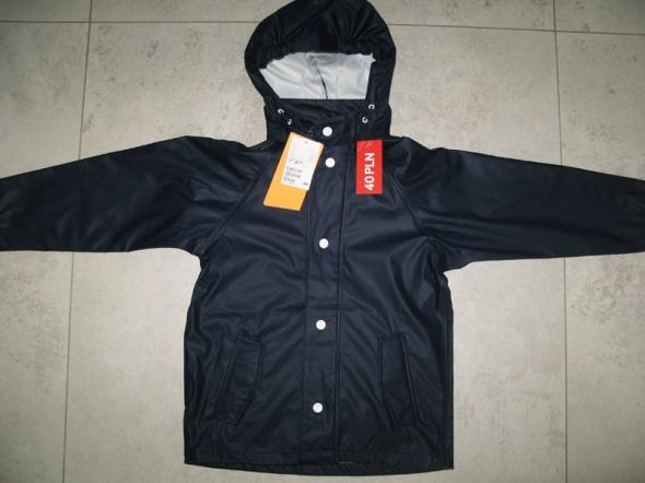 H&M granatowa kurtka chłopięca przeciwdeszczowa roz 122
